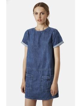 Moto Denim T Shirt Dress by Topshop