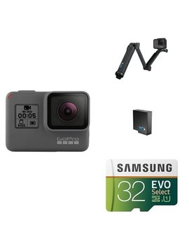 Go Pro Hero5 Black W/ 3 Way Grip, Battery And Memory Card by Go Pro