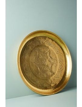 Hand Engraved Metal Tray by Anthropologie