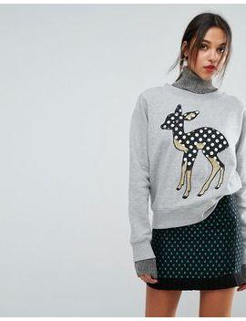 Essentiel Antwerp Deer Sweater by  Essentiel Antwerp