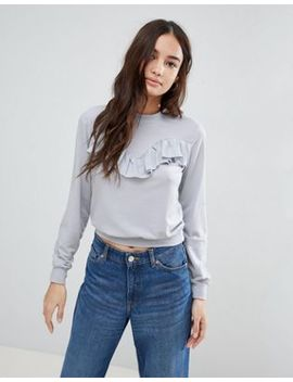 Glamorous Frill Detail Sweatshirt by Glamorous