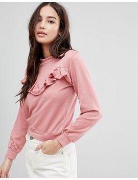 Glamorous Frill Sweatshirt by Glamorous