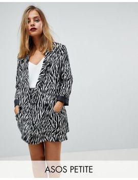 Asos Petite Tailored Zebra Print Soft Blazer by Asos Petite