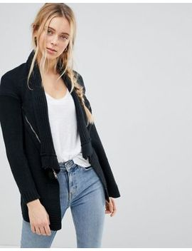 Qed London Waterfall Knitted Jacket by Jacket