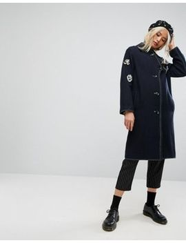 Asos Coat With Military Badges by Asos Collection