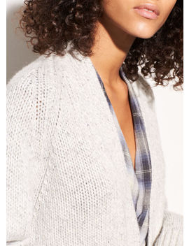 Marled Raglan Ribbed Cardigan by Vince