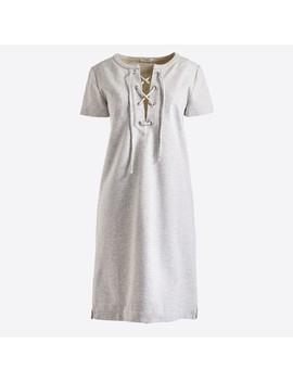 Lace Up Knit Dress by J.Crew