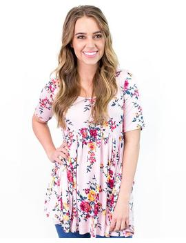 Bella Floral Babydoll Tunic by Cents Of Style