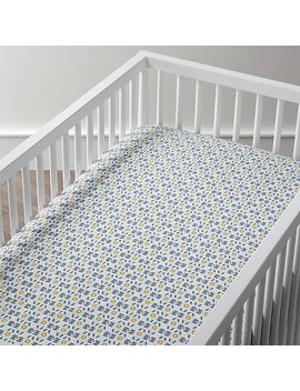 Stained Glass Crib Fitted Sheet by The Land Of Nod