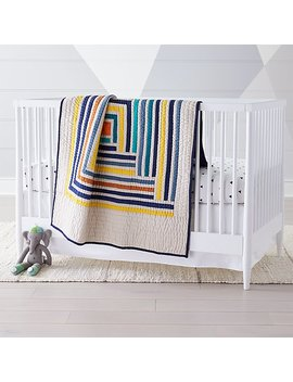 Suzy Quilts Campfire Modern Geometric Baby Quilt by The Land Of Nod