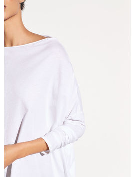 Pima Cotton Mock Neck Top by Vince