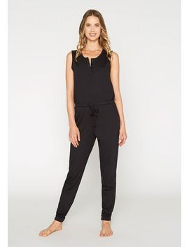 French Terry Henley Jumpsuit by Alloy
