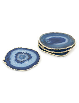 Blue And Gold Agate Coasters by Jonathan Adler