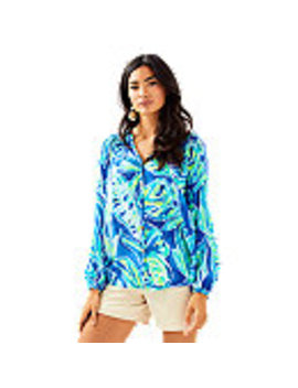 Button Front Elsa Top by Lilly Pulitzer