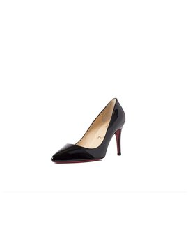 Pigalle 85 Patent Leather Pumps   Black by Christian Louboutin