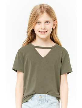 girls-raw-cut-cutout-tee-(kids) by forever-21