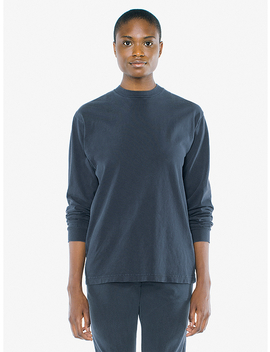 Unisex Heavy Jersey Long Sleeve Box T Shirt by American Apparel