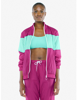 Unisex Crinkle Nylon Team Jacket by American Apparel
