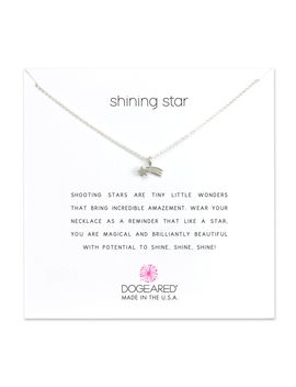 Shooting Star Necklace, Sterling Silver by Dogeared