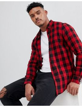 pull&bear-regular-fit-shirt-in-red-check by pull&bear