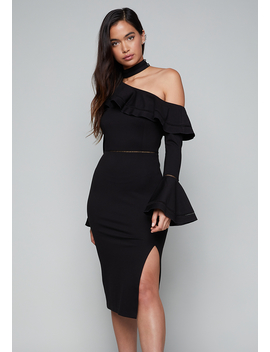 Tricia One Shoulder Dress by Bebe