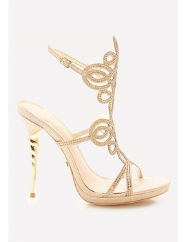 Delja Jeweled Sandals by Bebe