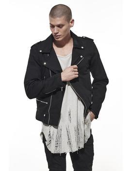 Denim Mc Biker Jacket / Black by Other Uk