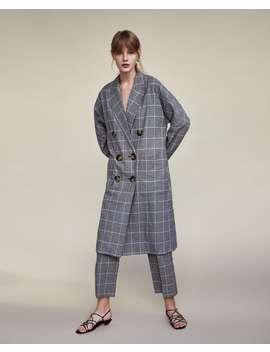 checked-double--breasted-coatouterwear-sale-woman by zara