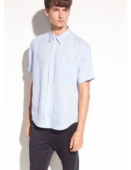 Washed Linen Short Sleeve by Vince