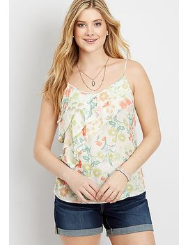 Ruffled Floral Tank by Maurices