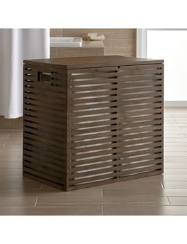 Dixon Large Bamboo Hamper With Liner by Crate&Barrel