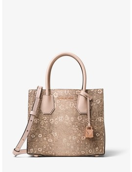 Mercer Lizard Embossed Leather Crossbody by Michael Michael Kors