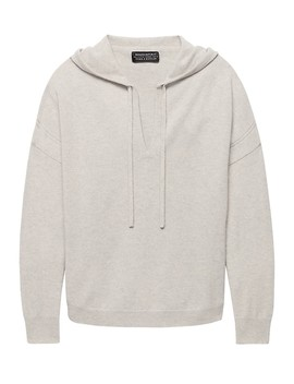 Todd & Duncan Cashmere Round Popover Hoodie by Banana Repbulic