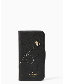 Buzzworthy Folio I Phone 7 & 8 Case by Kate Spade
