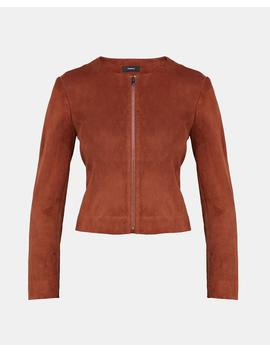 Stretch Suede Fitted Jacket by Theory