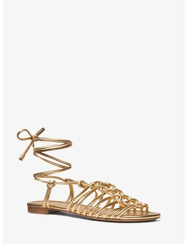 Fagan Metallic Leather Sandal by Michael Kors Collection