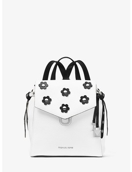 Bristol Small Floral Appliqué Leather Backpack by Michael Michael Kors