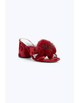 Aurora Pompom Mule by Marc Jacobs