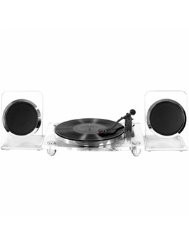 Bluetooth Stereo Turntable   White/Clear by Victrola