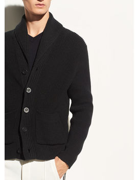 Shawl Collar Cotton Cardigan by Vince