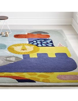 Jungle Animal Rug by Crate&Barrel