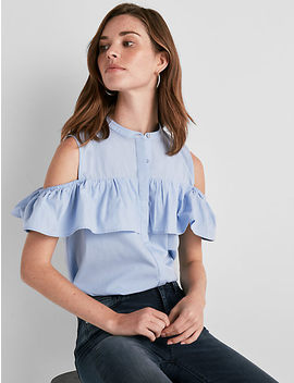 Cold Shoulder Jaquard Top by Lucky Brand