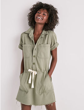 Drawstring Dress In Sage Fray by Lucky Brand