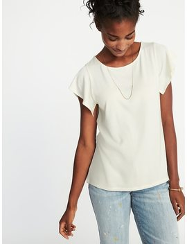 Relaxed Flutter Sleeve Top For Women by Old Navy