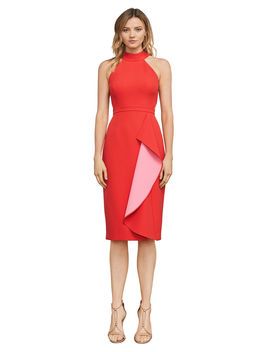 Maryssa Two Tone Halter Dress by Bcbgmaxazria