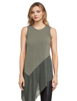 Annabelle Asymmetrical Mixed Media Top by Bcbgmaxazria