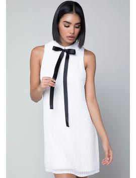 Beaded White Dress by Bebe