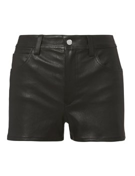 Stretch Leather Shorts by Helmut Lang