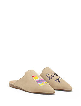 Embroidered Blythh Slide by Lucky Brand