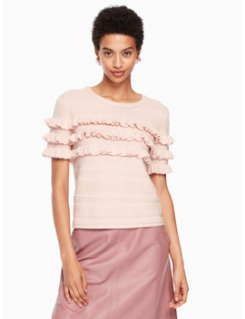 Ruffle Short Sleeve Sweater by Kate Spade